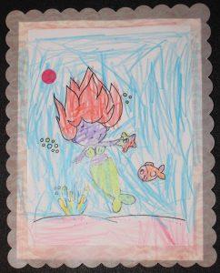 Caitlin's Mermaid card