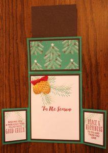 inside of card on left