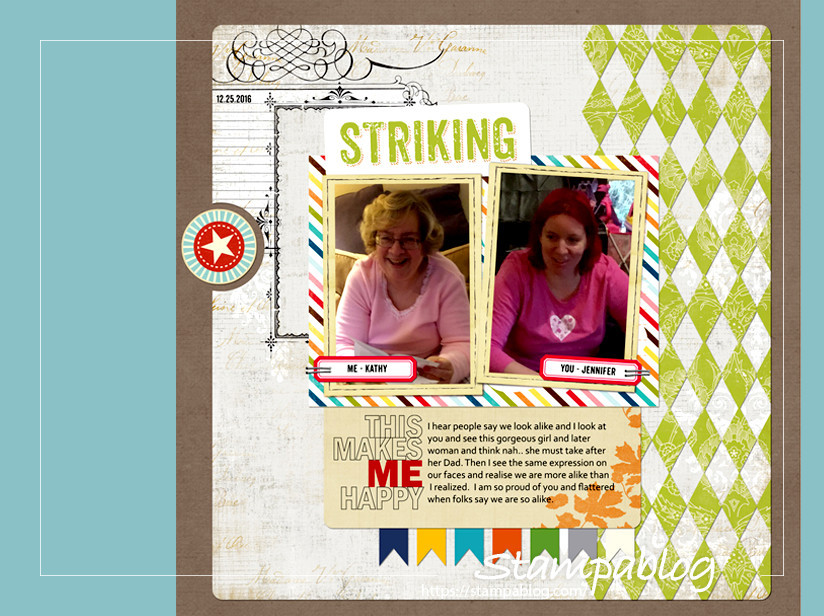 Create a Custom Diamond Pattern in a Digital Scrapbook Layout